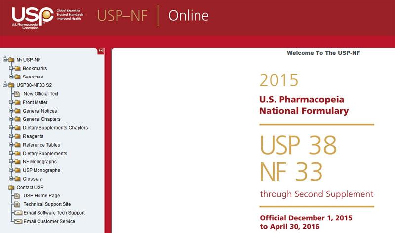 دانلود فارماکوپه آمریکا USP38-NF33 2015