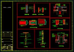 دانلود نقشه اتوکد جزییات اجرای دیوار داخلی و خارجی، اسکوپ سنگ نما، پوشش درز انبساط بام، نعل درگاه، اتصال فرم درها، در فلزی و سکوریت